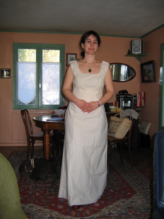 La robe de mariée de Cécile : essayage 2