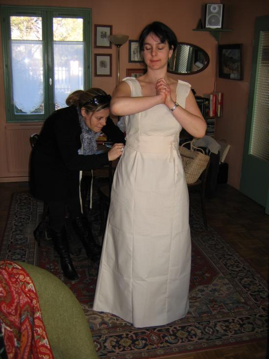La robe de mariée de Cécile : essayage 1