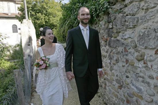 La robe de mariée de Cécile.