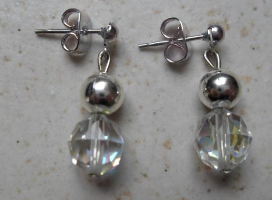 Boucles pendantes cristal de swarovski
