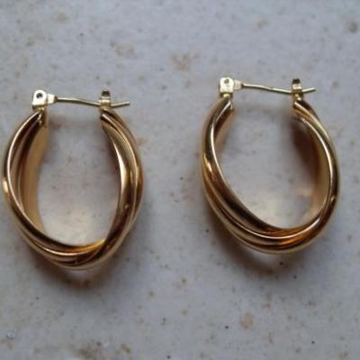 Boucles 3 anneaux, plaqué or