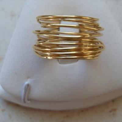 Bague multi-rangs plaqué or