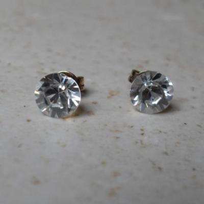 Boucles plaqué or, cristal de swarovski