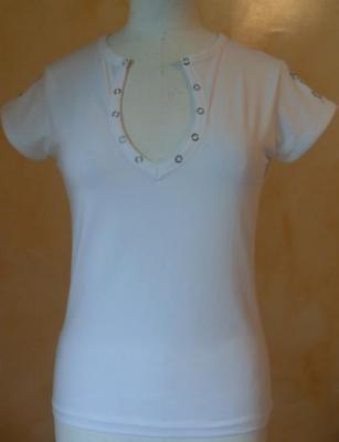 Tee-shirt blanc ORIENT, imprimé argent