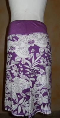 Jupe BLISS, violet et imprimé, collection Smash