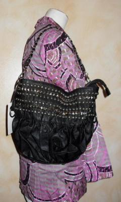 Sac INKA bag noir, clous et chaîne métal de Smash.