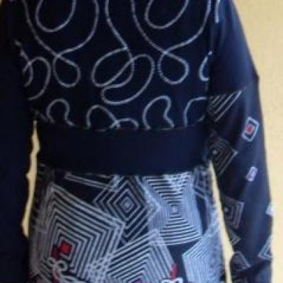 Veste zippée MARINADA, noire et imprimée, de Smash.