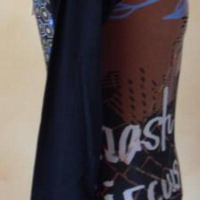 Tee-shirt Alvin noir et marron de Smash.