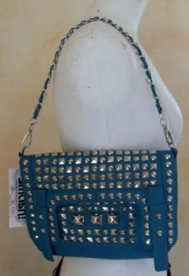 Sac à main KADEN BAG, turquoise et clous de Smash.