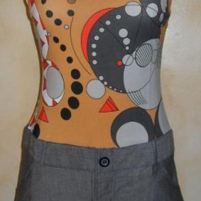 Robe TABATHA, jeans et imprimé de Smash.