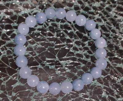 Bracelet en perles naturelles, Aigue marine.
