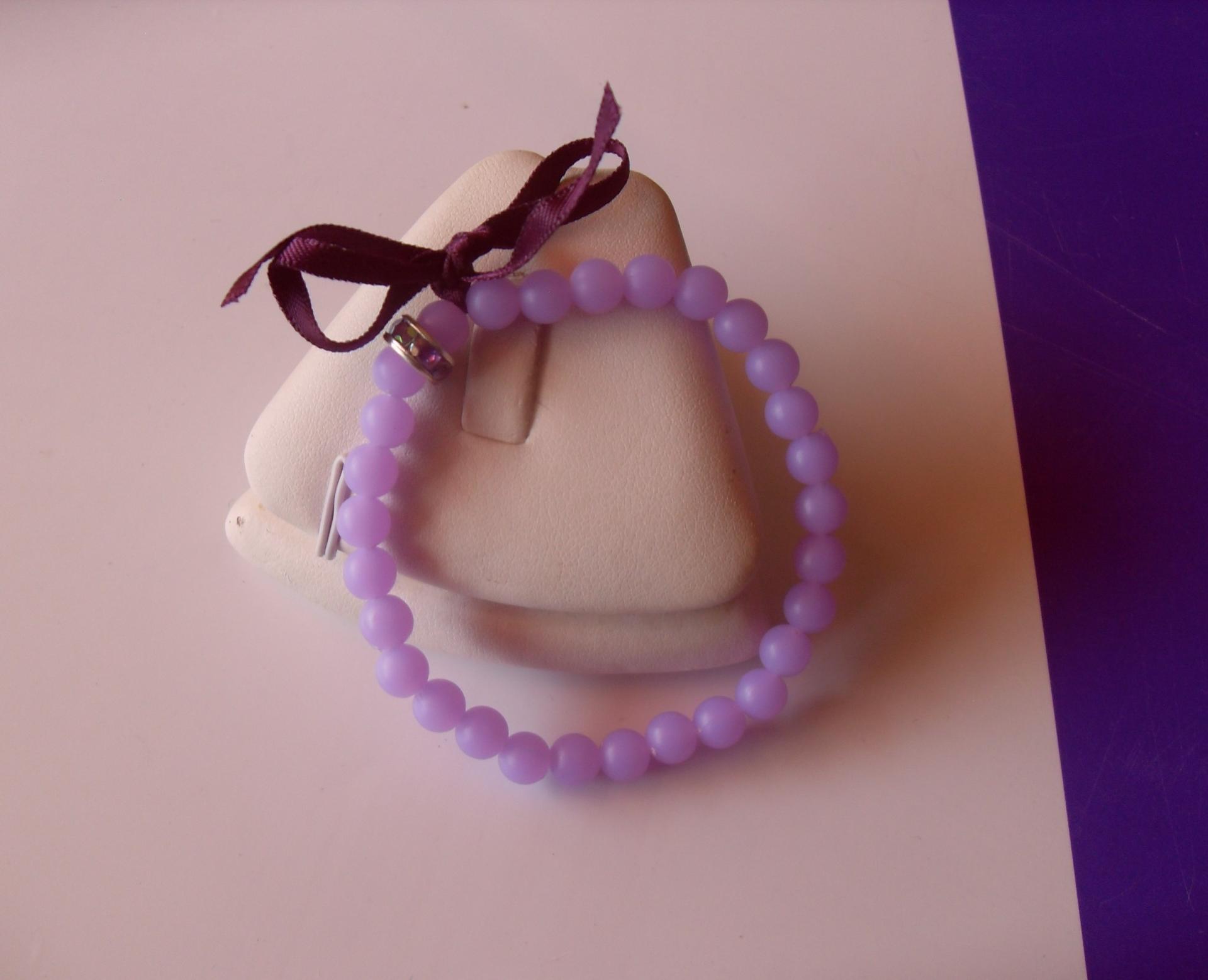 Bracelet perles fluo strass et ruban - Bracelet perle et ruban ...