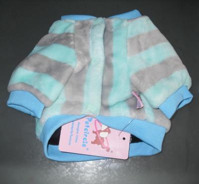 Vêtement chien, blouson polaire bleu-gris-noir New-york.