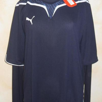 Tee-shirt PUMA, bleu marine et blanc, manches longues, XXL