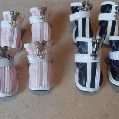 Chaussures chien, chiot, imitation cuir, scratch.